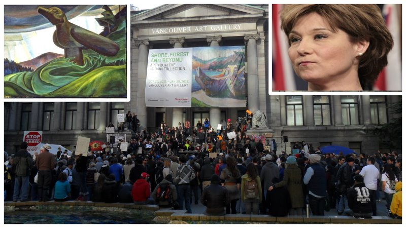 oil paintings removed from Vancouver BC gallery