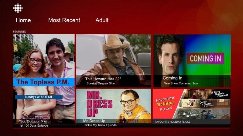 CBC porn movies justin Trudeau topless