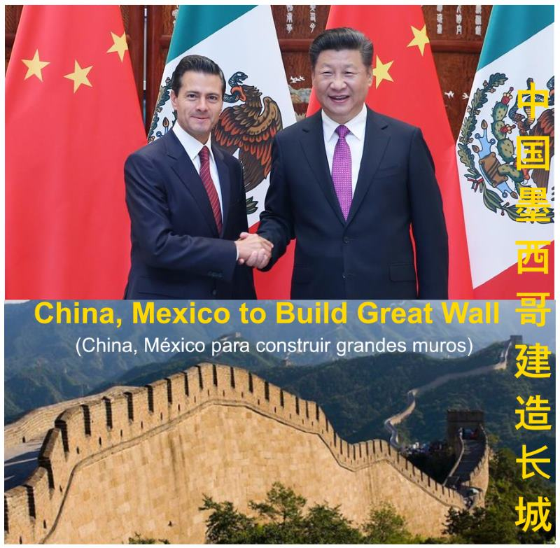 Mexico china partner to build US Mexican border wall