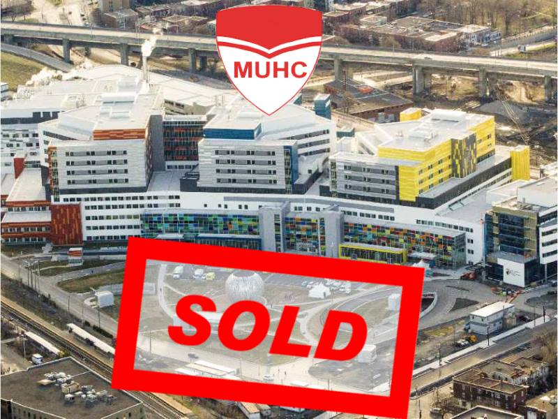 Montreal Super hospital for sale MUHC