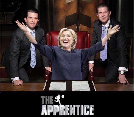 the apprentice host hillary clinton