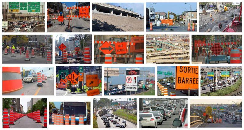 montreal-road construction pylons cones
