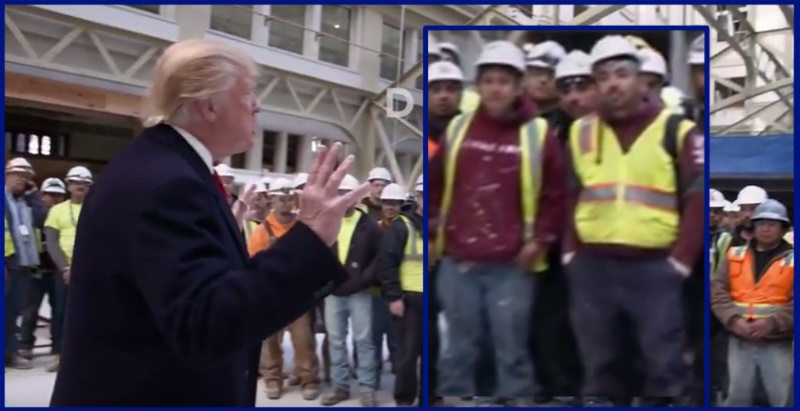 president trump-with-mexican-workers