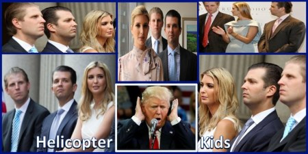 donald trump-helicopter-kids