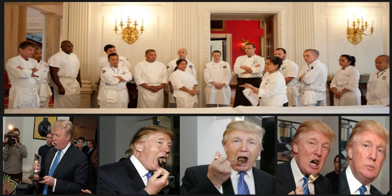 trump-eats whitehouse-food