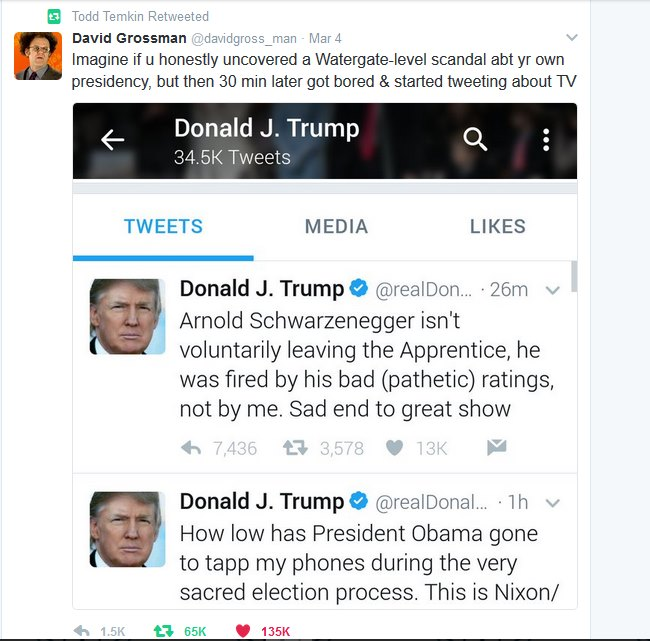 Trump David Grossman Tweet