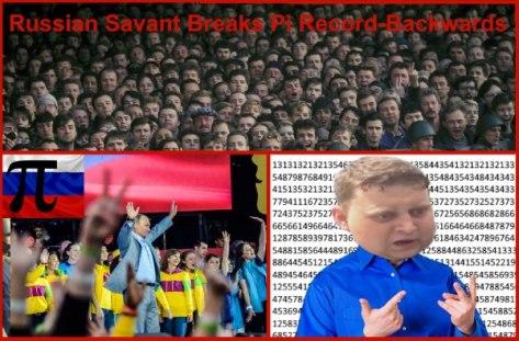 Russian breaks Pi World Record